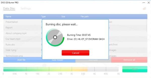b2 600x311 - DVD CD Burner PRO: Ứng dụng ghi đĩa cực dễ cho Windows 10