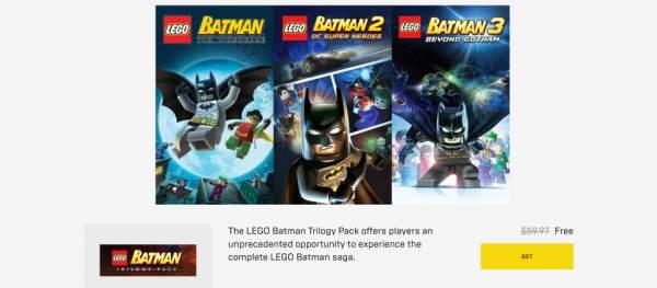 """batman arkham collection lego batman trilogy free epic 1 600x263 - Đang miễn phí hai bộ game Batman: Arkham Collection và Lego Batman Trilogy""""cực khủng"""""""