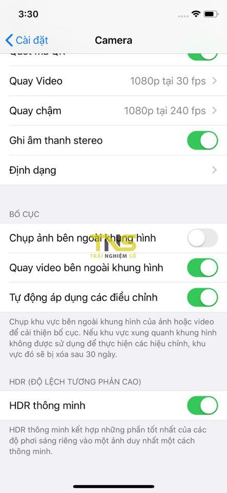 Chụp nội dung bên ngoài khung hình camera trên iPhone 11 là gì? 1