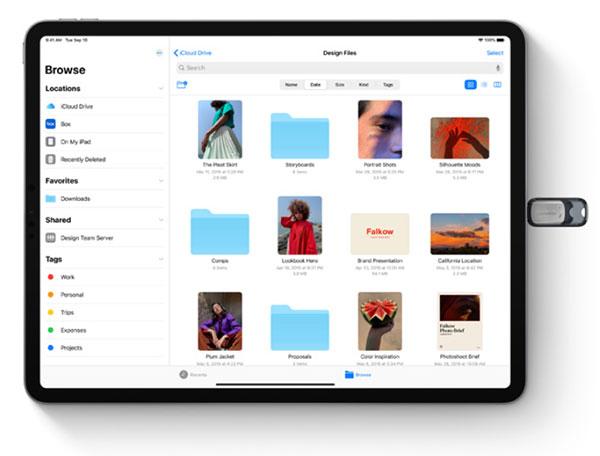 iPadOS files app - Cách kết nối và sử dụng ổ USB trên iPadOS và iOS 13