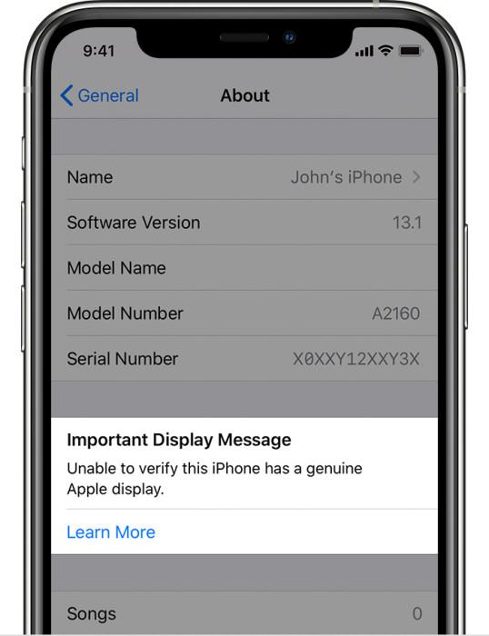 iPhone 11 và iPhone 11 Pro có thể xác định màn hình không chính hãng 1