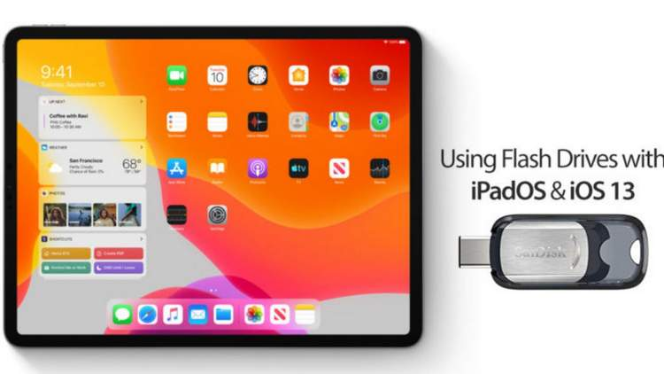 ipados flash drives featured 750x422 - Cách kết nối và sử dụng ổ USB trên iPadOS và iOS 13