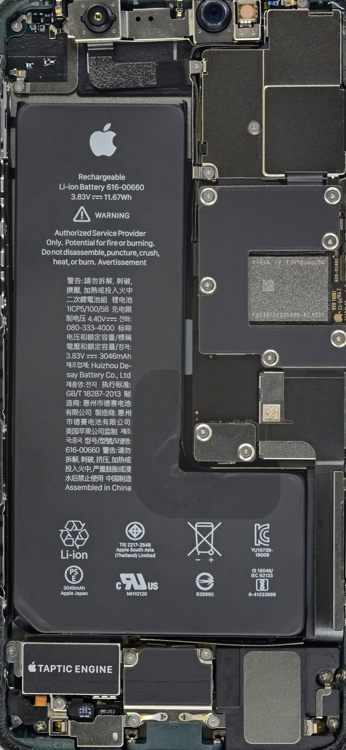iphone 11 pro internal - Mời bạn tải ảnh nền X-Ray cho iPhone 11 và iPhone 11 Pro