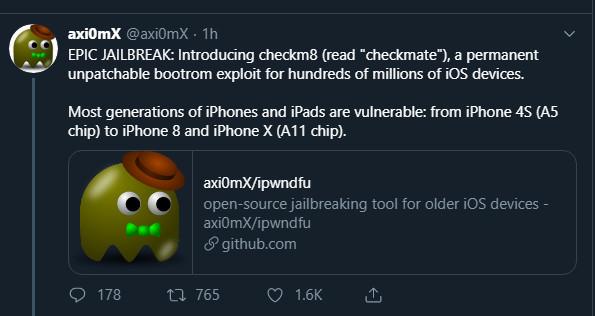 untethered jailbreak 1 - Công cụ jailbreak vĩnh viễn iPhone xuất hiện!