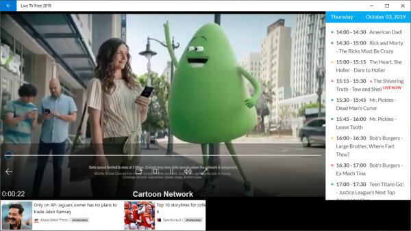 2019 10 03 15 16 08 600x338 - Chia sẻ 6 ứng dụng xem truyền hình online mới trên Windows 10
