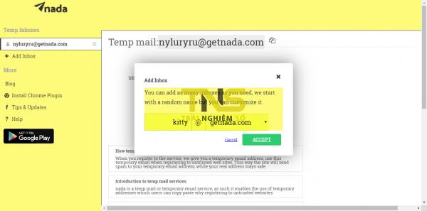 2019 10 04 17 04 32 600x297 - Tạo email ảo, hãy chọn nada Temp Mail
