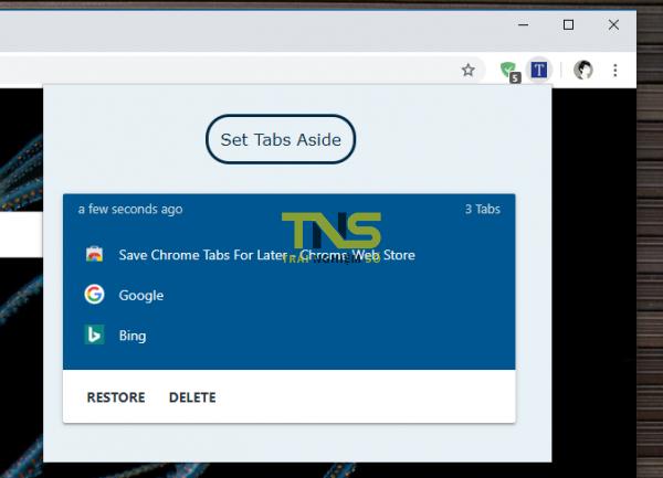 2019 10 08 15 51 15 600x433 - Lưu mọi tab trên Chrome cực nhanh với Save Chrome Tabs For Later