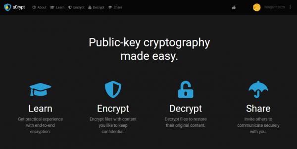 2019 10 15 16 31 58 600x302 - Dùng dCrypt mã hóa tập tin riêng tư và an toàn