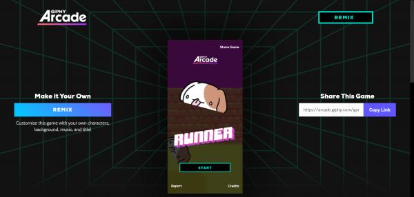 2019 10 17 11 17 54 600x286 - GIPHY Arcade: Tạo game miễn phí bằng ảnh động GIF