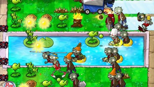 Plants vs Zombies 600x338 - Thử tài xây dựng cùng những tựa game thuộc thể loại Tower Defense sau đây