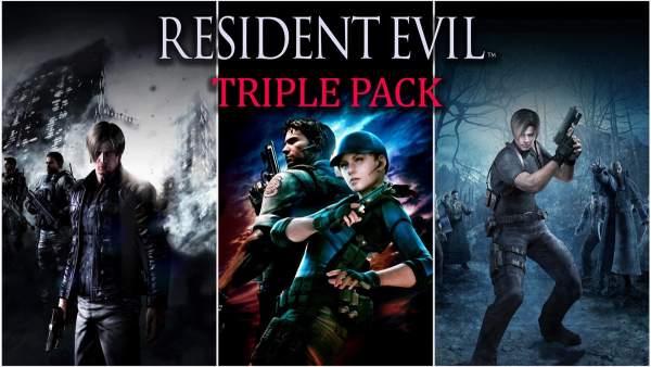 Resident Evil Triple Pack 600x338 - Game mới 2019: Tháng 10 có 11 bom tấn mới