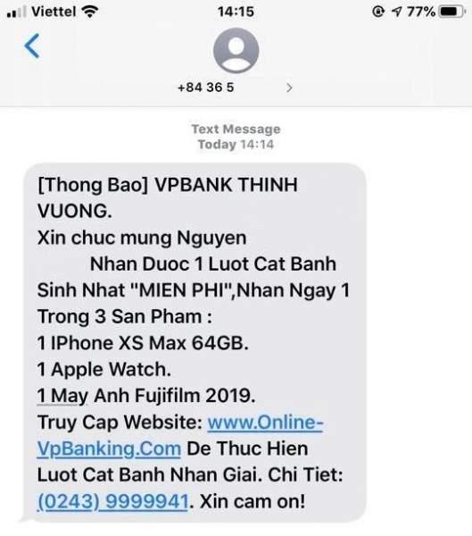 VP 2 529x600 - Cảnh báo chiến dịch lừa đảo mạo danh ngân hàng VPBank