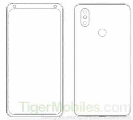Xiaomi smarpthone patent with dual front facing cameras 1 - Xiaomi được cấp bằng sáng chế cho 4 điện thoại độc đáo