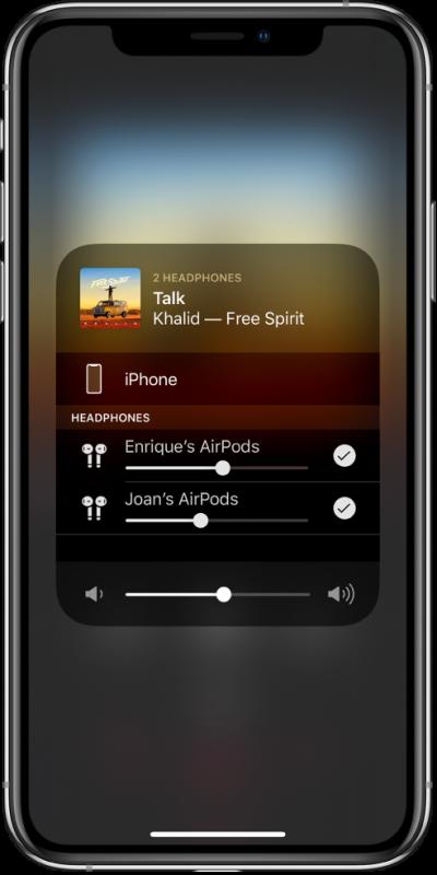 airpods sharing 400x800 - Cách chia sẻ âm thanh AirPods với một người bạn