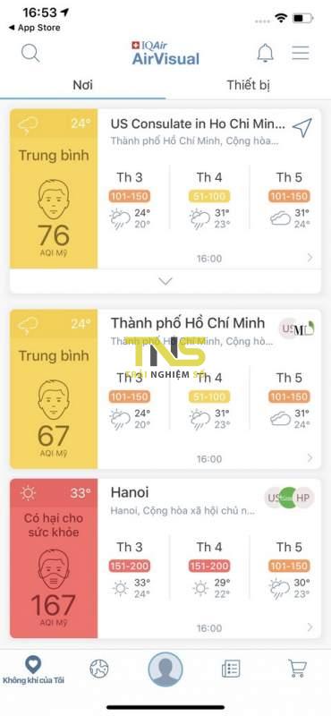 airvisual widget 2 370x800 - Cách xem chỉ số ô nhiễm không khí ngay trên widget iPhone
