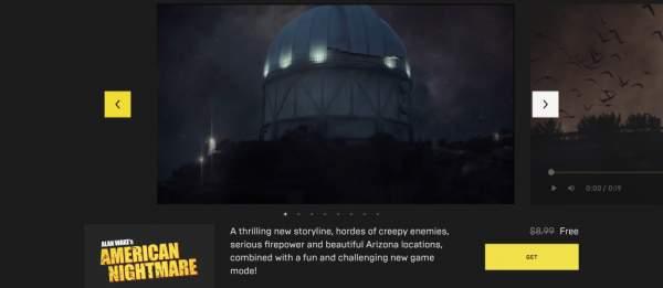alan wakes american nightmare observer free epic games store 1 600x261 - Đang miễn phí 2 game Alan Wake's American Nightmare và >observer_ khá hay