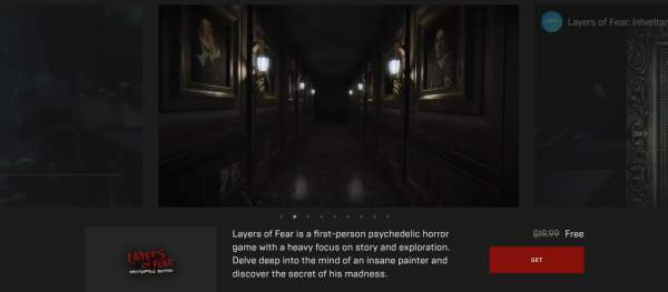 layers of fear masterpiece edition qube 2 epic games store 1 600x263 - Đang miễn phí 2 game Layers of Fear: Masterpiece Edition và Q.U.B.E. 2 khá hay