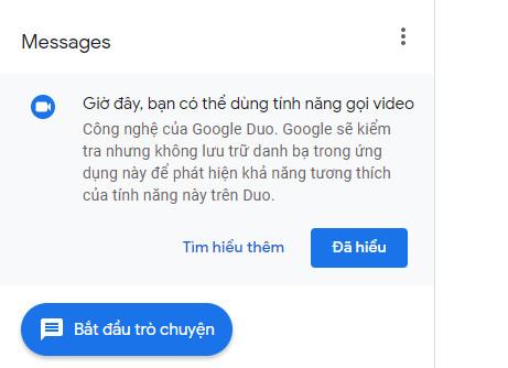 messenger web 1 - Google Duo đã có thể gọi thông qua web nhắn tin của Google