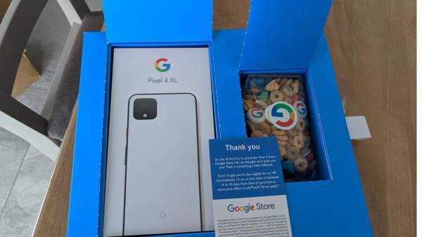 qua tang pixel 4 2 600x338 - Google tặng kèm ngũ cốc khi giao Pixel 4