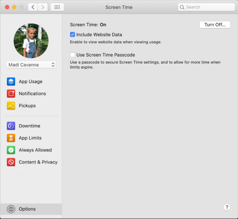 screen time macos catalina 800x736 - Cách thiết lập Thời gian sử dụng cho trẻ em trên máy Mac