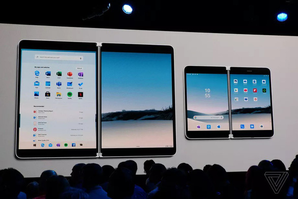the surface neo left and surface duo right - Surface Duo: Điện thoại Android màn hình kép