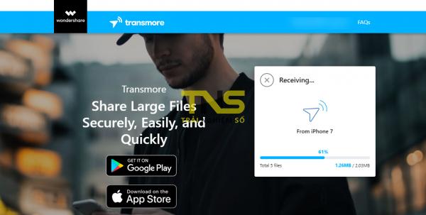 Transmore: Chia sẻ file cùng tài khoản và đa nền tảng miễn phí 6