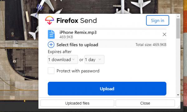Cách gửi file dung lượng lớn qua Facebook bằng Firefox Send 2