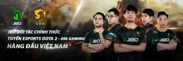 JBO đồng hành cùng 496 Gaming - Đội tuyển Dota 2 hàng đầu Việt Nam 1