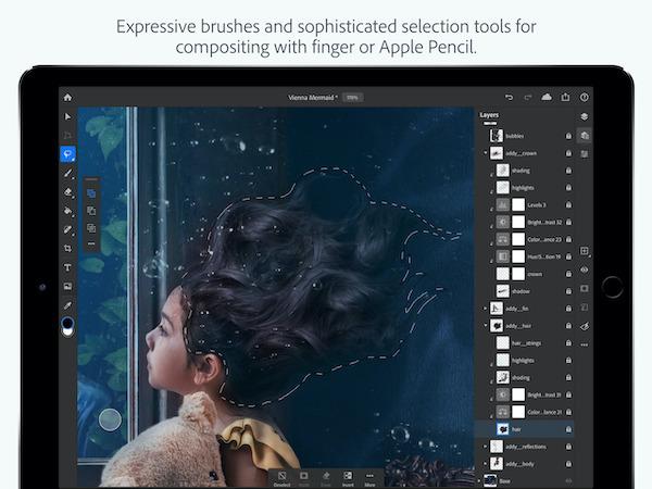 Photoshop for iPad - Adobe Photoshop đã có phiên bản dành cho iPad