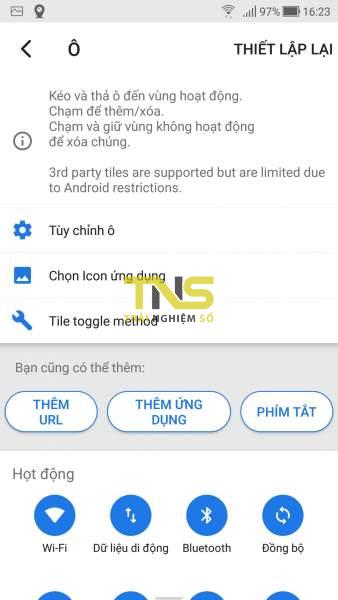 Mở Quick Settings trên Android từ cạnh dưới và hai bên màn hình 5