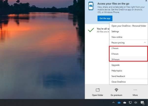 Tắt nhanh đồng bộ OneDrive trên Windows 10 1