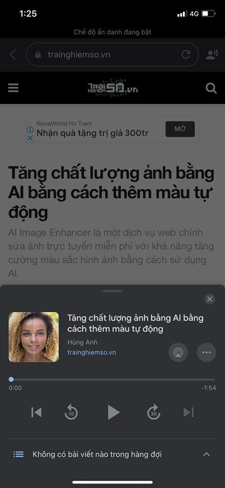 Đọc báo giùm bạn với tiếng Việt trên máy tính và điện thoại 4