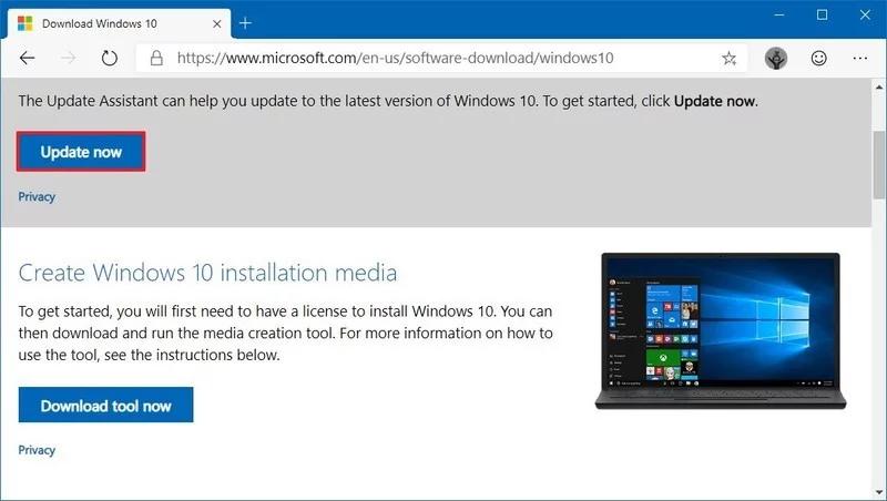 download 3 800x452 - Ba cách cập nhật máy tính lên Windows 10 build 1909