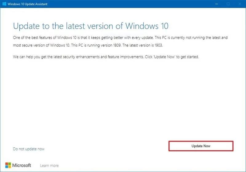 download 4 800x559 - Ba cách cập nhật máy tính lên Windows 10 build 1909