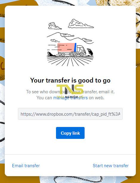 dropbox transfer 4 - Dropbox Transfer - truyền dữ liệu giữa hai thiết bị nhanh nhất