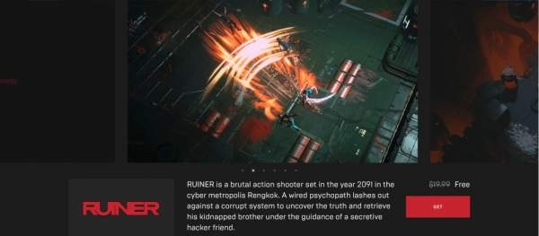 nuclear throne and ruiner free epic games store 1 600x263 - Đang miễn phí 2 game Nuclear Throne và RUINER rất hay