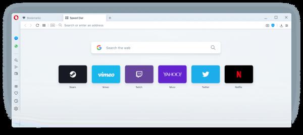 opera web browser 600x268 - Cách tăng tốc tải trang Speed Dial khi mở trên Opera