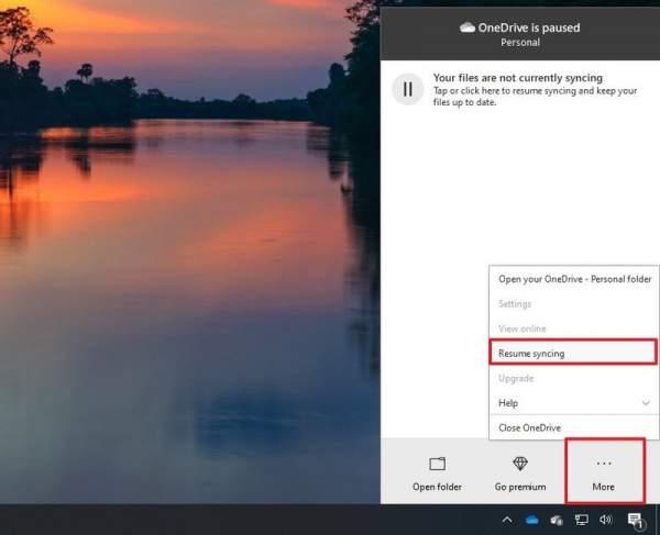 Tắt nhanh đồng bộ OneDrive trên Windows 10 3