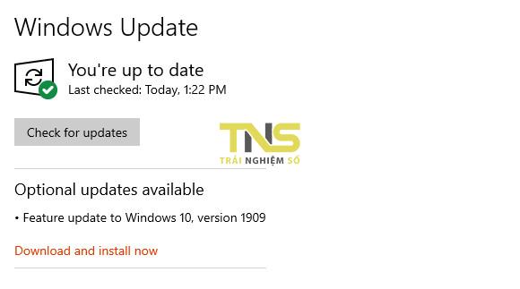 windows 1909 - Ba cách cập nhật máy tính lên Windows 10 build 1909