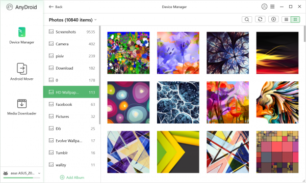 AnyDroid: trình quản lý thiết bị Android cực hay