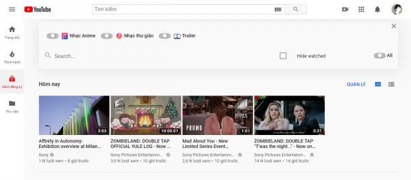 Quản lý kênh YouTube theo nhóm trên iOS/Android và PC 4