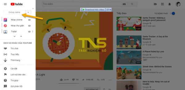 Quản lý kênh YouTube theo nhóm trên iOS/Android và PC 1