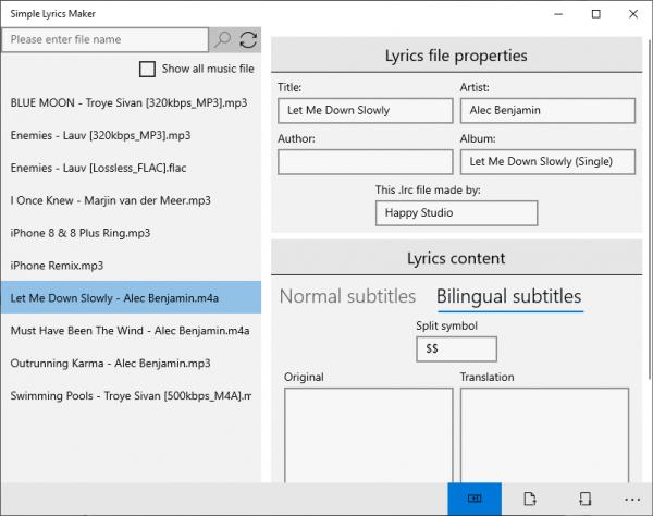 2019 12 26 14 52 00 600x474 - Simple Lyrics Maker: Tạo file chứa lời nhạc song ngữ trên Windows 10