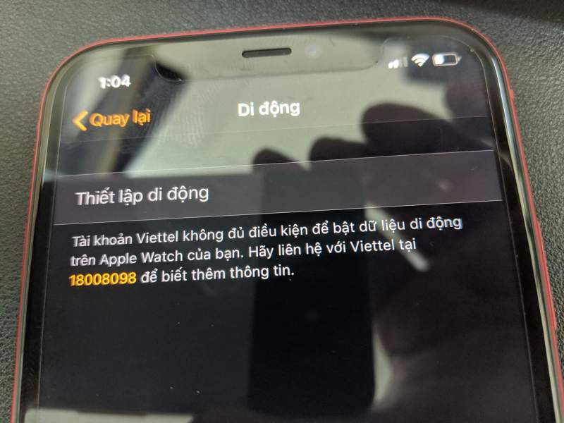 apple watch viettel 800x600 - Viettel chính thức hỗ trợ eSIM cho Apple Watch: ngày đầu nhiều trục trặc