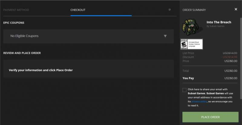 Đang miễn phí game Into The Breach từ Epic Games Store