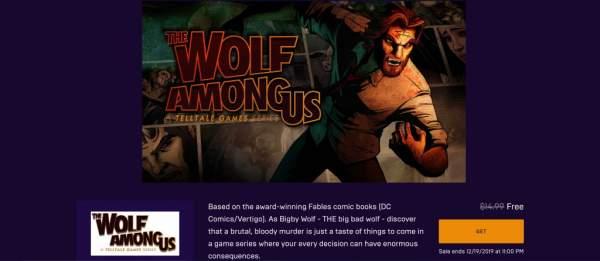 Nhanh tay tải The Wolf Among Us đang miễn phí từ Epic Games Store