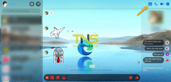Cài theme cho Messenger trên Chrome với hình nền