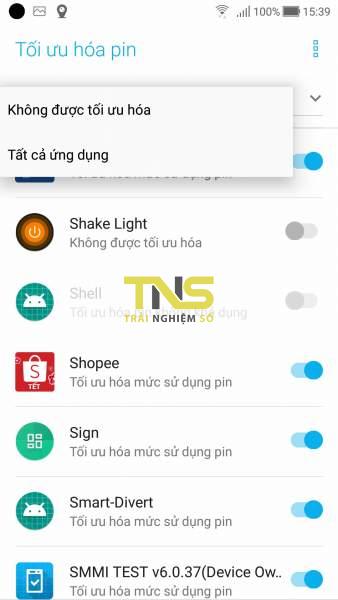 Lắc điện thoại mở đèn pin dành cho Android