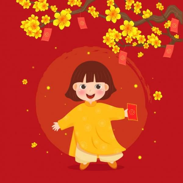 happy lunar new year 2020 5 600x600 - Chia sẻ hình nền Tết Canh Tý 2020 dễ thương cho desktop và điện thoại