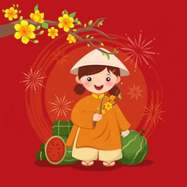 happy lunar new year 2020 7 600x600 - Chia sẻ hình nền Tết Canh Tý 2020 dễ thương cho desktop và điện thoại